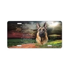 """""""Why God Made Dogs"""" GSD Aluminum License Plate"""