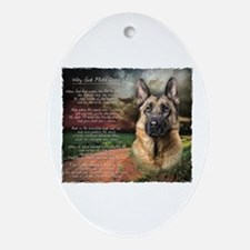 """""""Why God Made Dogs"""" GSD Ornament (Oval)"""