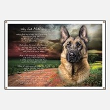 """""""Why God Made Dogs"""" GSD Banner"""