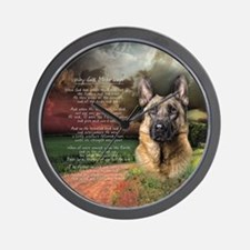 """Why God Made Dogs"" GSD Wall Clock"