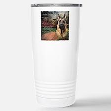 """Why God Made Dogs"" GSD Travel Mug"