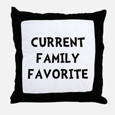 Current Family Favorite Throw Pillow