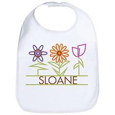 Sloane with cute flowers Bib
