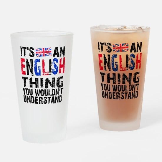 English Thing Drinking Glass