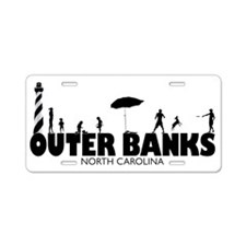 OUTER BANKS Aluminum License Plate