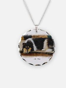 Tri Color Collie Necklace