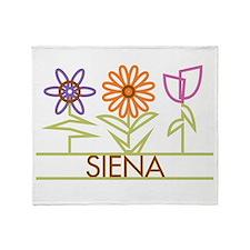 Siena with cute flowers Throw Blanket