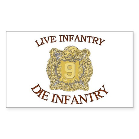 4th Bn 9th Infantry Sticker (Rectangle)