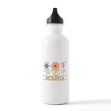 Mckayla with cute flowers Water Bottle