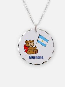 Argentina Teddy Bear Necklace