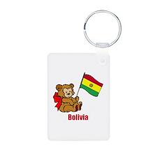 Bolivia Teddy Bear Keychains