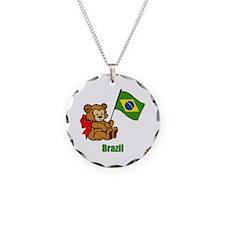 Brazil Teddy Bear Necklace