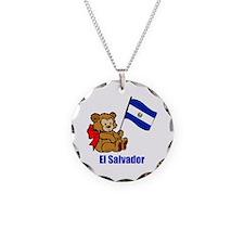 El Salvador Teddy Bear Necklace