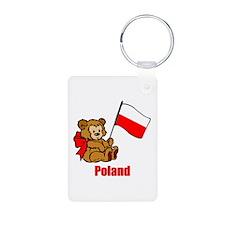 Poland Teddy Bear Keychains