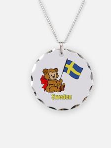 Sweden Teddy Bear Necklace