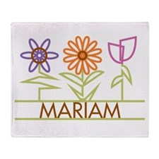 Mariam with cute flowers Throw Blanket