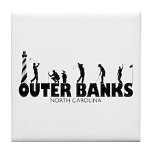 OUTER BANKS Golf Tile Coaster