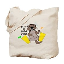I Otter Be Scuba Diving Tote Bag