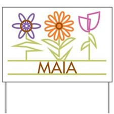 Maia with cute flowers Yard Sign