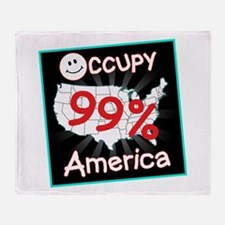 occupy america smile Throw Blanket