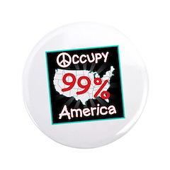 "occupy america peace 3.5"" Button (100 pack)"