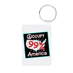 occupy america peace Keychains