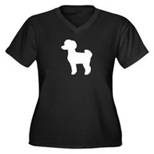 Toy Poodle Women's Plus Size V-Neck Dark T-Shirt