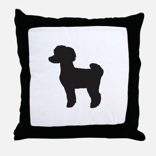 Toy Poodle Throw Pillow