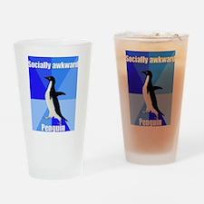 Socially awkward penguin Drinking Glass