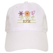 Elyse with cute flowers Baseball Cap