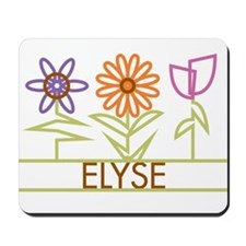Elyse with cute flowers Mousepad