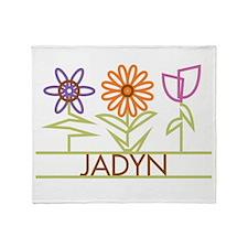 Jadyn with cute flowers Throw Blanket