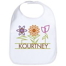 Kourtney with cute flowers Bib