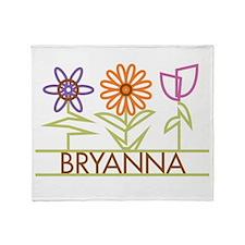 Bryanna with cute flowers Throw Blanket