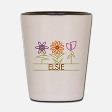 Elsie with cute flowers Shot Glass