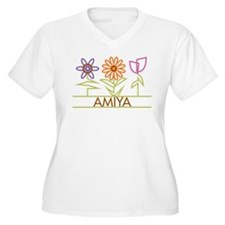 Amiya with cute flowers T-Shirt