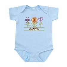 Amiya with cute flowers Infant Bodysuit