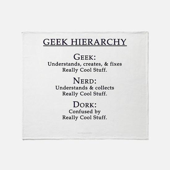 Geek Hierarchy Throw Blanket