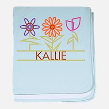 Kallie with cute flowers baby blanket