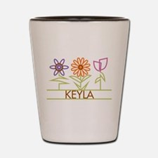 Keyla with cute flowers Shot Glass