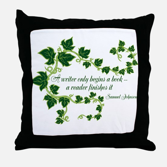 Writer and Reader Throw Pillow