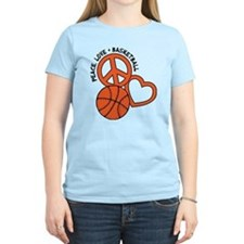 Peace, Love, Basketball T-Shirt