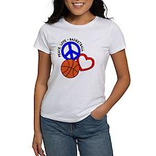 Peace, Love, Basketball Tee