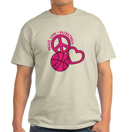 Peace, Love, Basketball Light T-Shirt