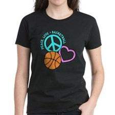 Peace, Love, Basketball Tee