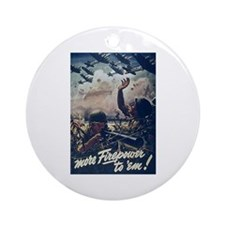 More Firepower for Soldiers Ornament (Round)