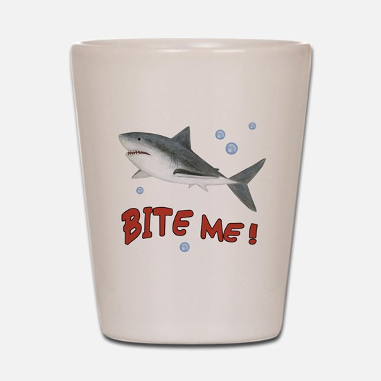 Shark - Bite Me Shot Glass