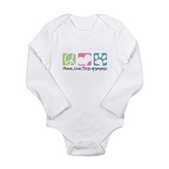 Peace, Love, Dogo Argentinos Long Sleeve Infant Bo