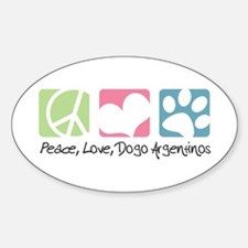 Peace, Love, Dogo Argentinos Decal