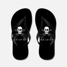 Rock and Roll Pirate Flip Flops